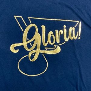 New Gloria! STL Blues Note Shirt with Shiny Gold